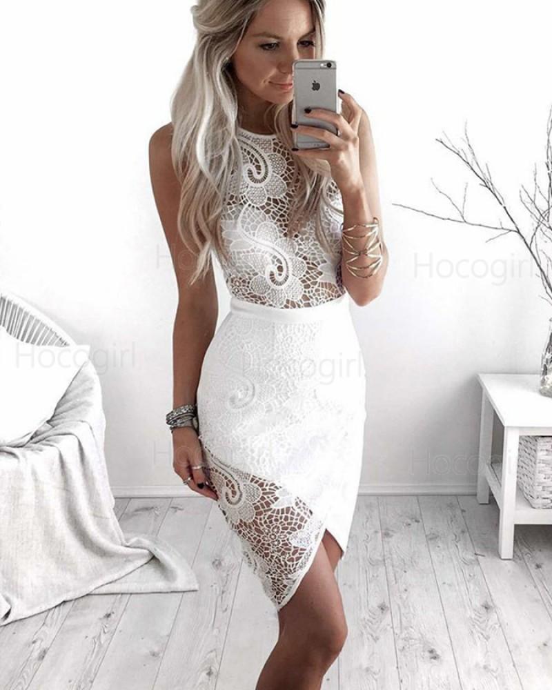 Amazing Jewel Lace Tight Club Dress with Tulip Skirt HD3231
