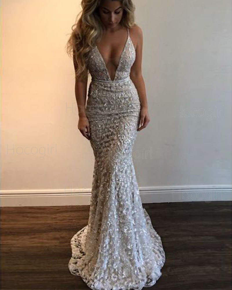 Lace Beading Mermaid Style Prom Dress
