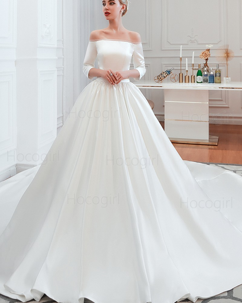 simple off shoulder long gown