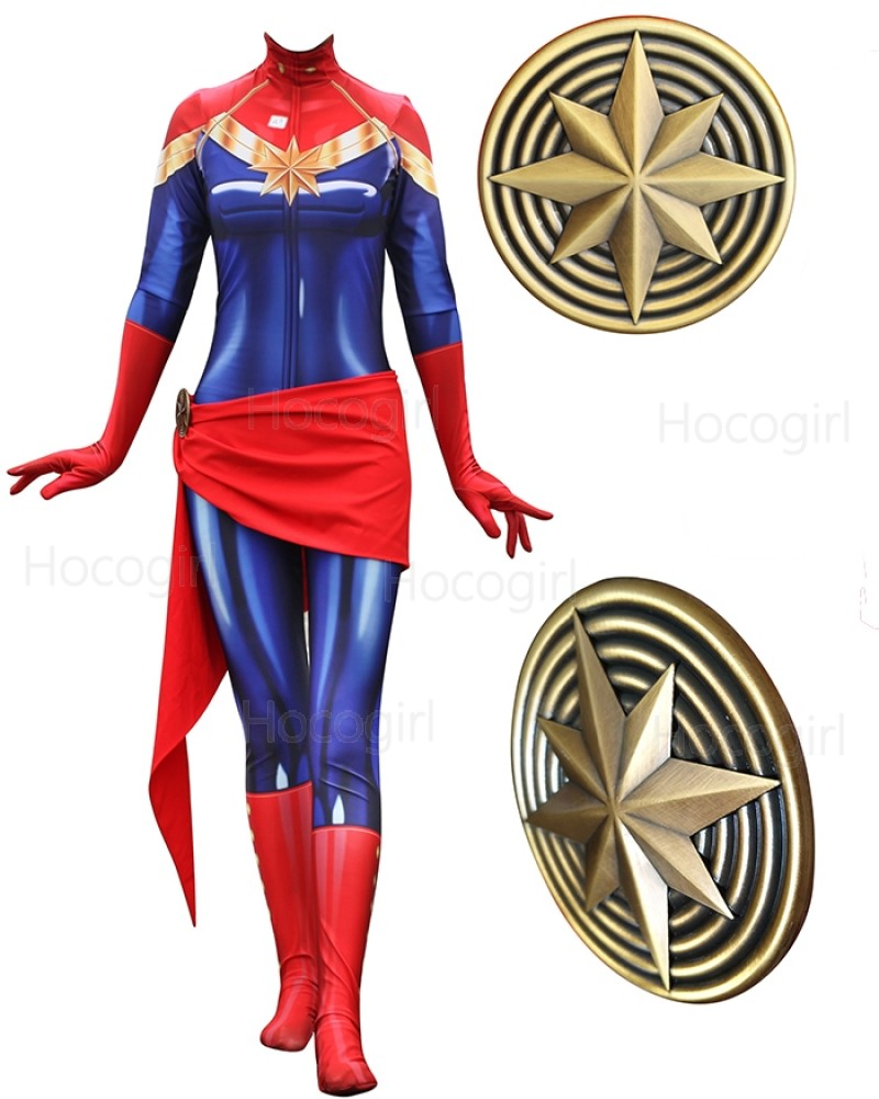 Shop Captain Marvel Costume Super Hero Cosplay Jumpsuit For Women From Hocogirl Com Carol danvers has worn several costumes over the years as both ms. captain marvel costume super hero cosplay jumpsuit for women