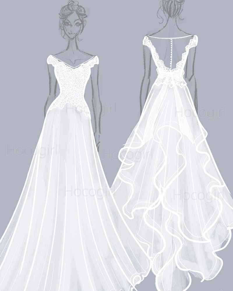Custom Wedding Dress as the Pictures | Custom Bridal Dress Maker | Design Your Own Dresses