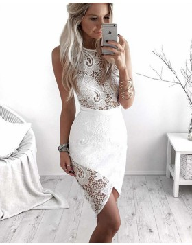 Amazing Jewel Lace Tight Club Dress with Tulip Skirt HD3231