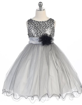 Beading Blue Tulle Pageant Dress for Girls with Flower