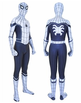 Halloween Hero Man White Spiderman Homecoming Bodysuit HC011