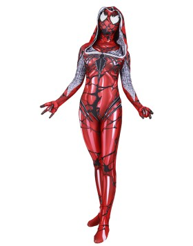 Halloween Hero Red Woman Spider-Gwen Venom Bodysuit HC013