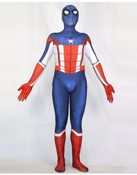 Halloween Hero Cosplay Spiderman Captain America Bodysuit HC015