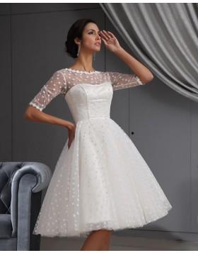 Cheap Short Wedding Dresses Tea Length Bridal Dresses Hocogirl Com Jewel