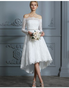 Cheap Short Wedding Dresses Tea Length Bridal Dresses Hocogirl Com