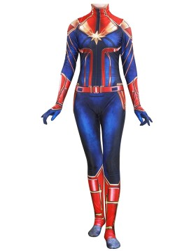 Super Hero Captain Marvel Costume for Women Halloween Cosplay