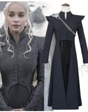 Game Of Thrones Black Queen Daenerys Targaryen Cosplay Costume For Woman