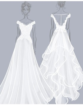 Custom Wedding Dress as the Pictures | Custom Bridal Dress Maker | Design Your Own Dresses